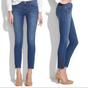 SALE 🔥 Madewell Side Zipper Ankle Skinny Jean